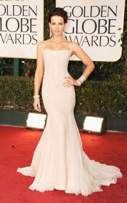 Kate Beckinsale in Roberto Cavalli  Golden Globes 2012