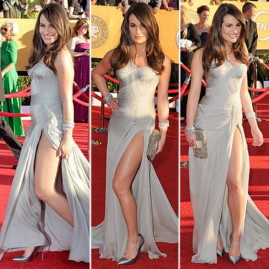 Lea Michele Wearing Atelier Versace at the 2012 SAG Awards
