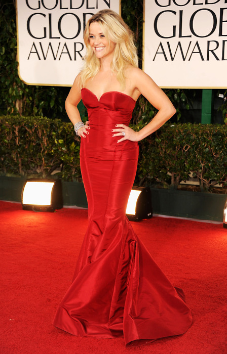 Reese Witherspoon in Zac Posen Golden Globes 2012
