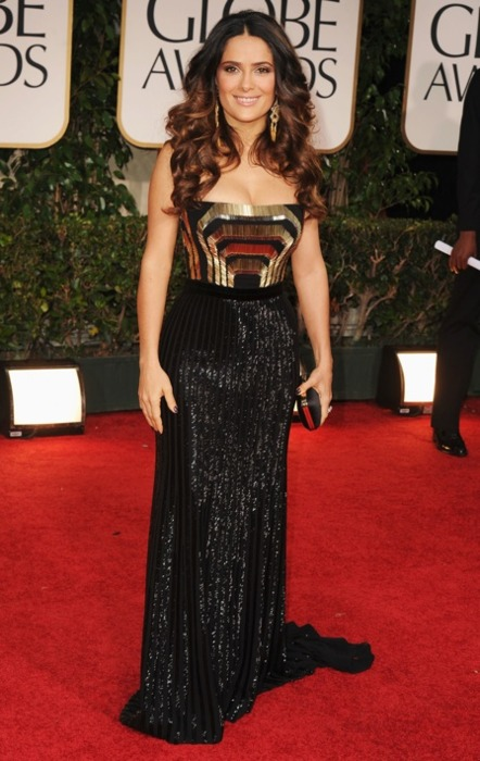 Salma Hayek in Gucci Golden Globes 2012