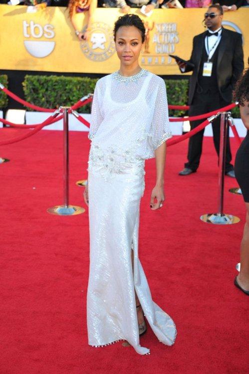 Zoe Saldana Wearing Givenchy at the 2012 SAG Awards