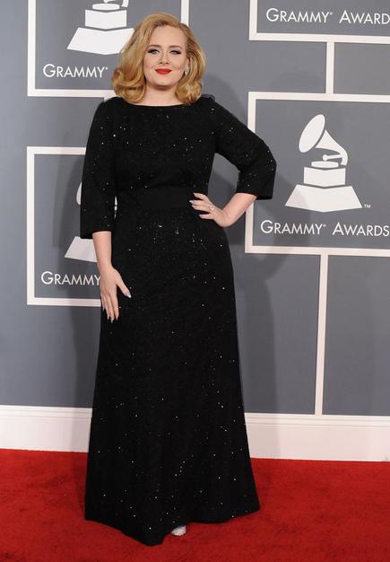 Adele at the 2012 Grammy Awards