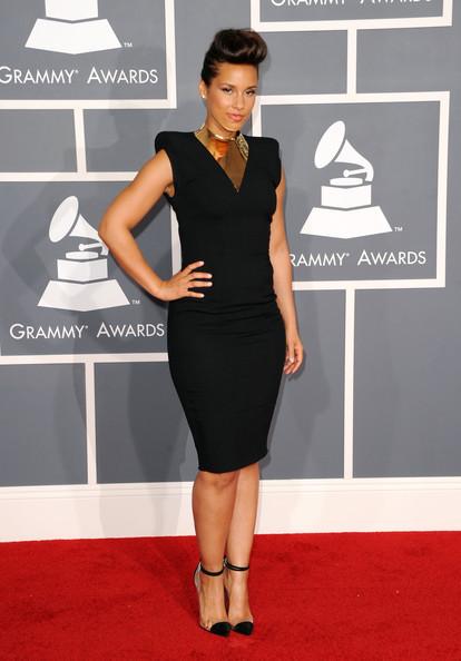 Alicia Keys at the 2012 Grammy Awards