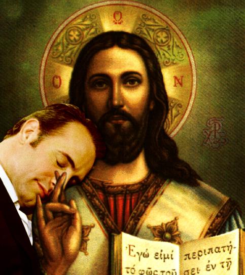 Jean Dujardin and Jesus