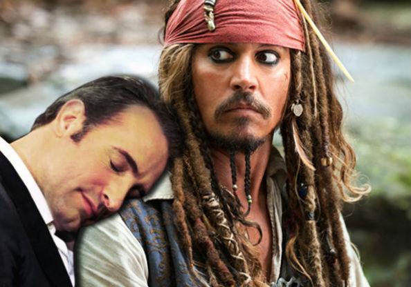 Jean Dujardin and Johnny Depp