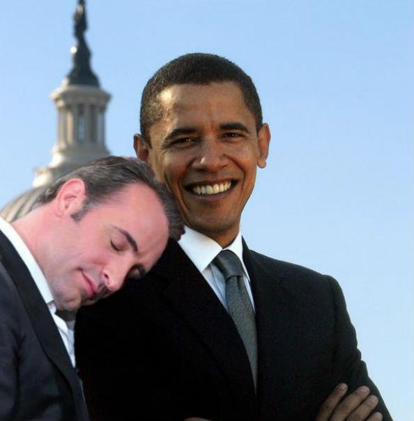 Jean Dujardin and Obama