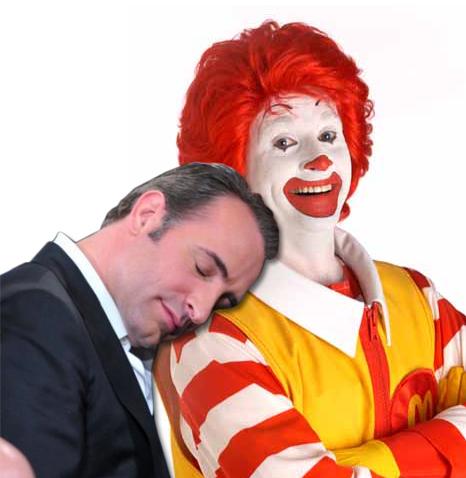 Jean Dujardin and Ronald McDonald