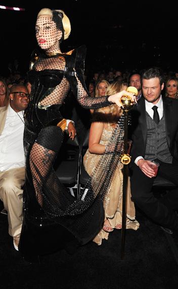 Lady Gaga at the 2012 Grammy Awards