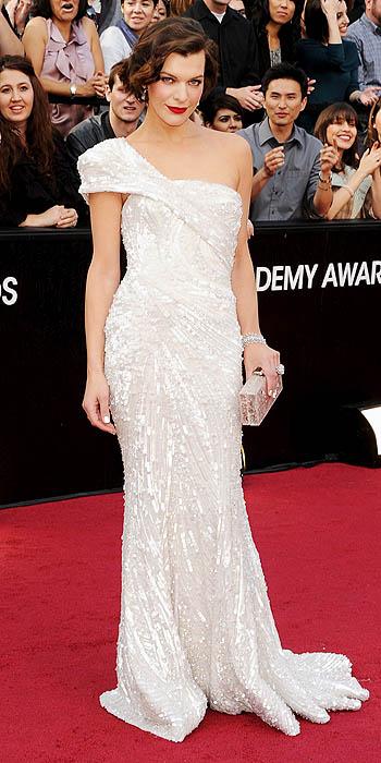 Milla Jovovich at the 2012 Academy Awards