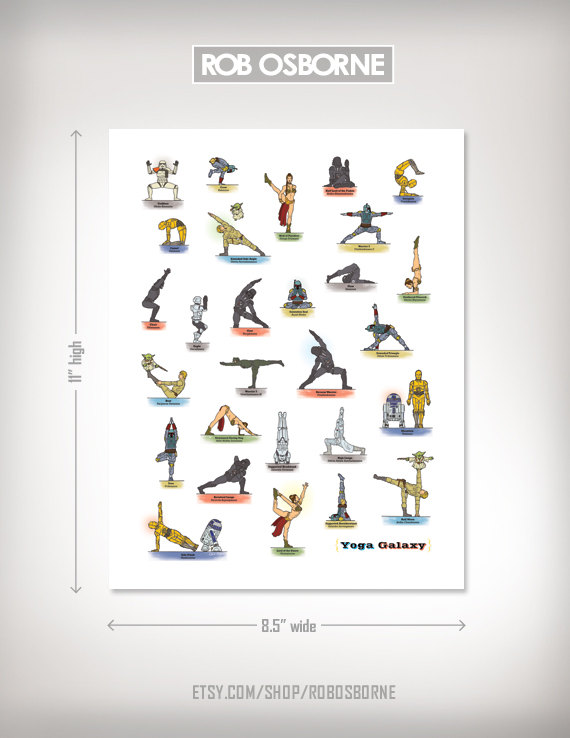 Star Wars Yoga Poster 2