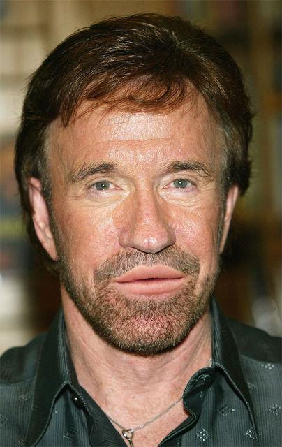 Chuck Norris with Lana Del Rey lips