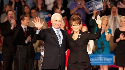 Ed Harris & Juliann Moore as John McCain & Sarah Palin