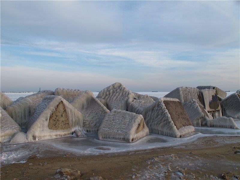 Frozen Black Sea Russia