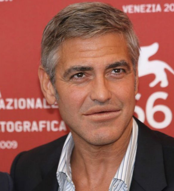 George Clooney with Lana Del Rey lips