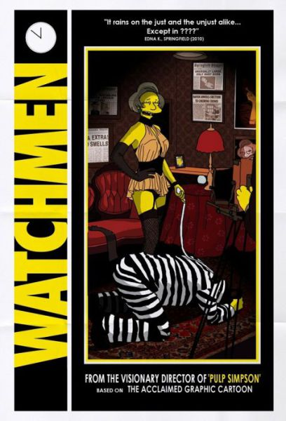 Simpsons Characters in Movie Posters Watchmen