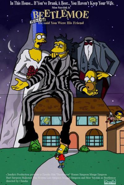 Simpsons Characters in Movie Posters Beetlemoe