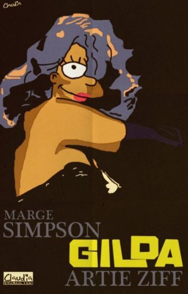 Simpsons Characters in Movie Posters Gilda