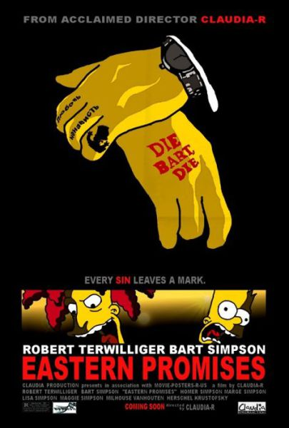 Simpsons Characters in Movie Posters Die Bart Die