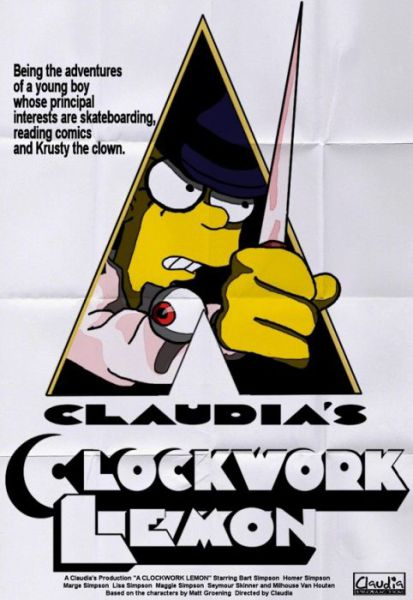 Simpsons Characters in Movie Posters Clockwork