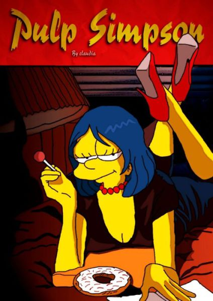 Simpsons Characters in Movie Posters Pulp Fiction