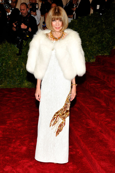 Anna Wintour at the 2012 Met Gala