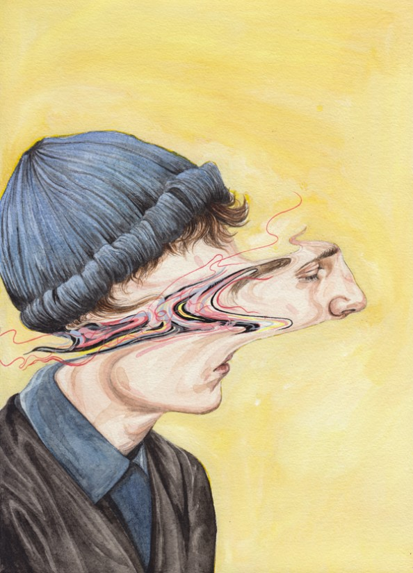 Henrietta Harris Drifting Faces Drawings - Glimpse