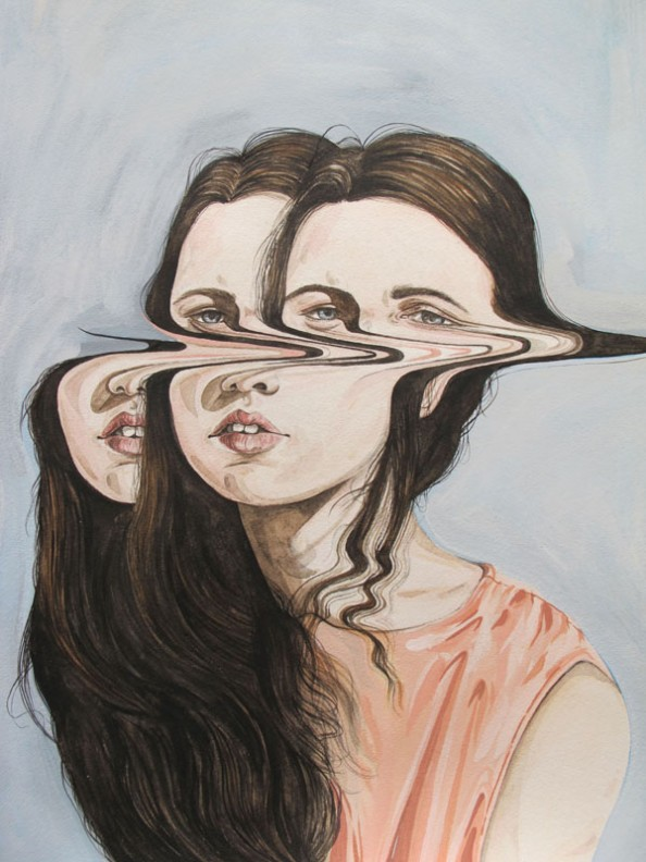 Henrietta Harris Drifting Faces Drawings - Your Tomorrow