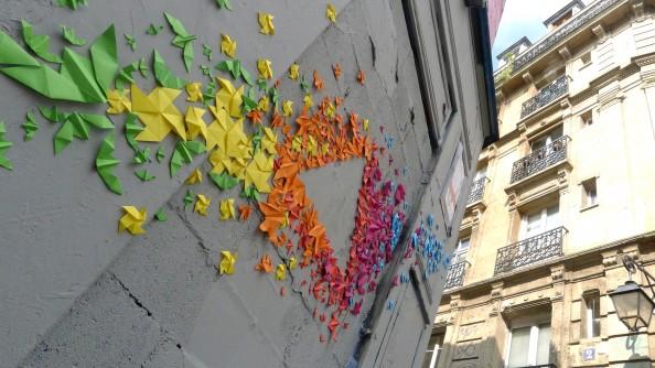 Mademoiselle Maurice Origami Street Art 10