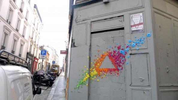 Mademoiselle Maurice Origami Street Art 2