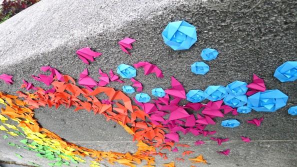 Mademoiselle Maurice Origami Street Art 4