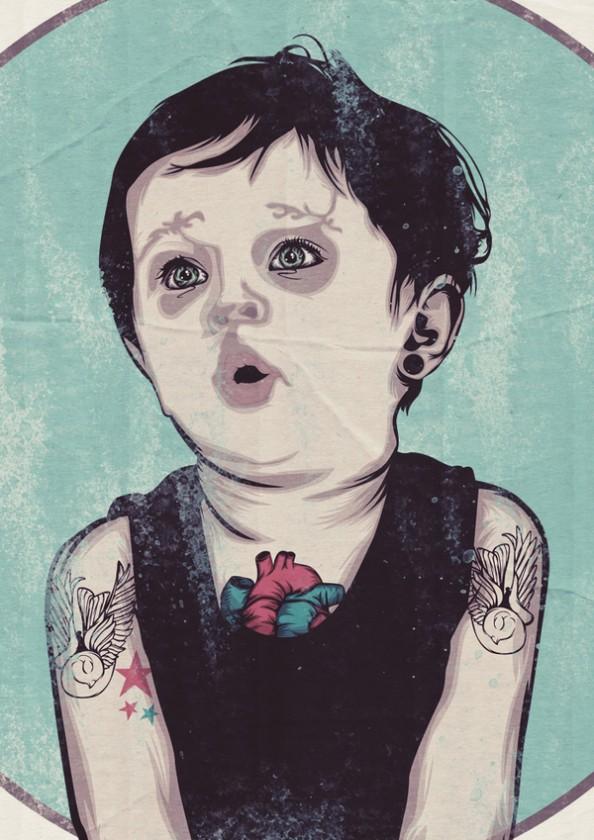 Nick Schmidt Illustrations Children Tattoos 3