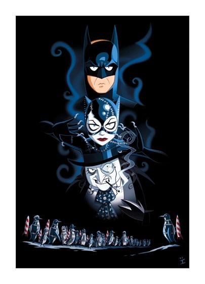 Inkjava Cartoon Style Movie Posters - Batman returns
