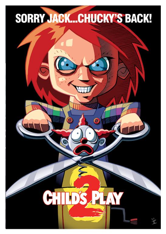 Inkjava Cartoon Style Movie Posters - Chucky