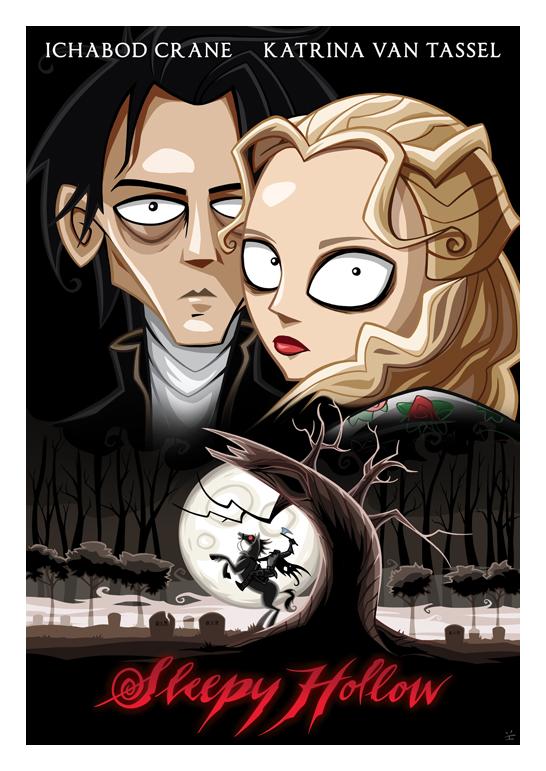 Inkjava Cartoon Style Movie Posters - Sleepy Hollow