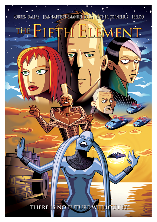Inkjava Cartoon Style Movie Posters - The Fifth Element