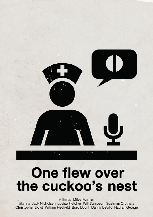 Victor Hertz Pictogram Movie Posters - One flew over the cuckoo's nest