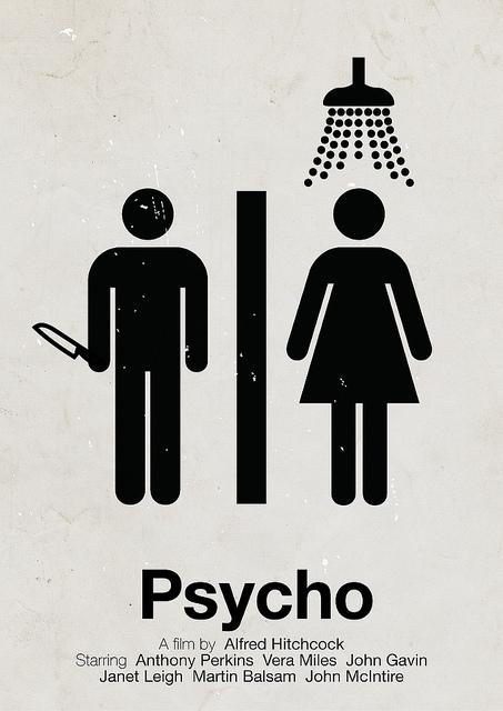 Victor Hertz Pictogram Movie Posters - Psycho