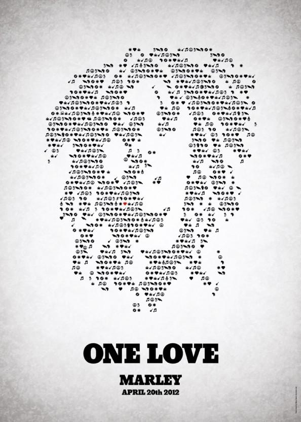 Victor Hertz Pictogram Rock Music Posters - Bob Marley