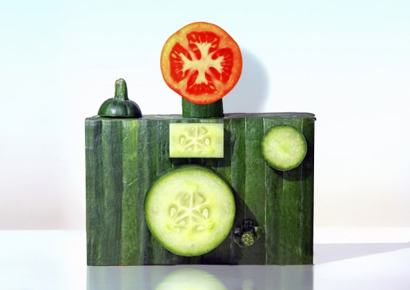 Dan Cretu Romanian Eco Artist - Food Sculptures 7