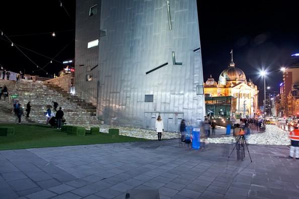 Literature vs traffic in Federation Square, Melbourne, by Luzinterruptus 8