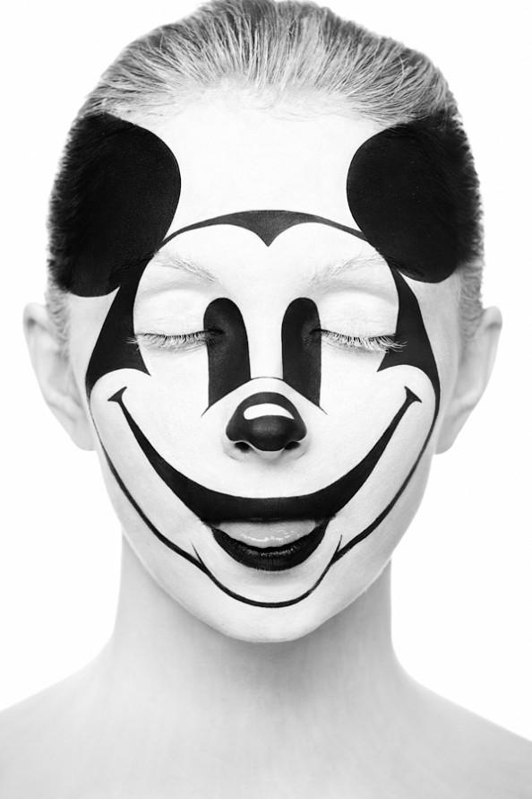 Weird Beauty Project by Alexander Khokhlov - Make up by Valeriya Kutsan Mickey