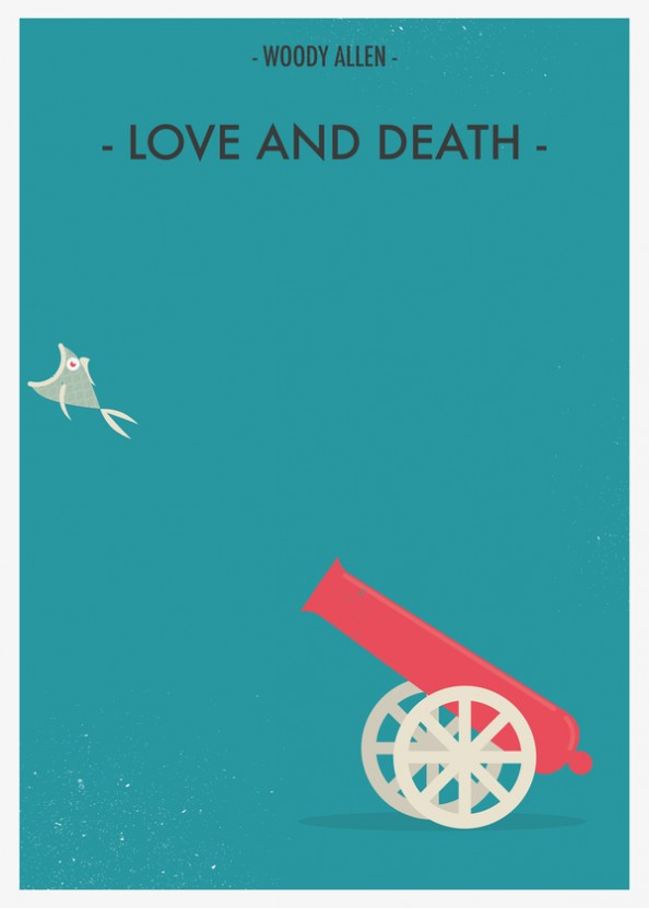 Woody Allen Fan Made Movie Posters  by Giulio Mosca - Love and Death