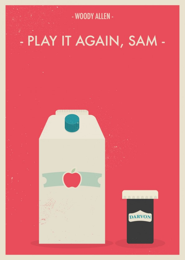 Woody Allen Fan Made Movie Posters  by Giulio Mosca - Play it again Sam