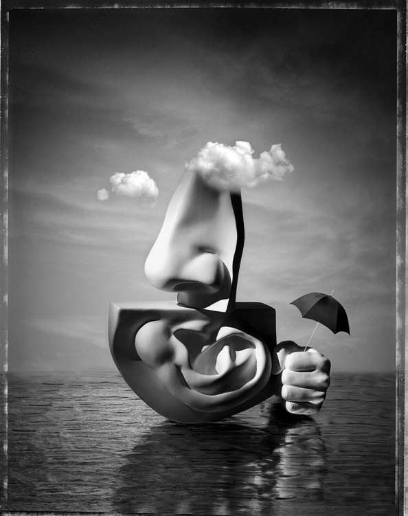 Paul Biddle Surrealist Photography Cloudy Island