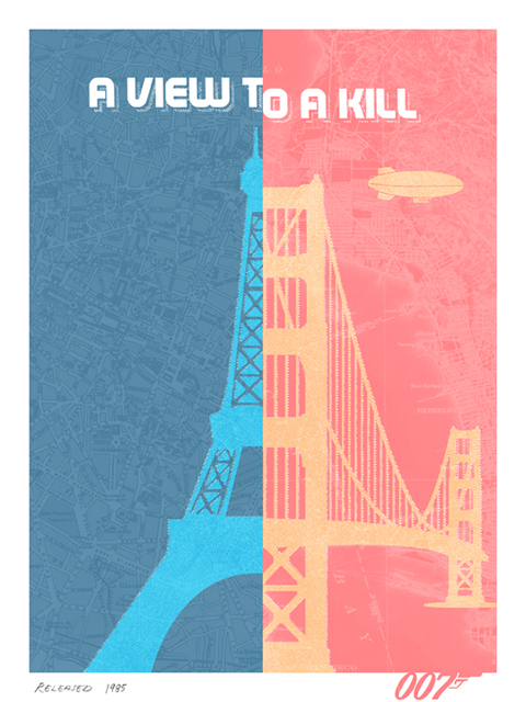 A view to a kill fan-made poster by Herring&Haggis