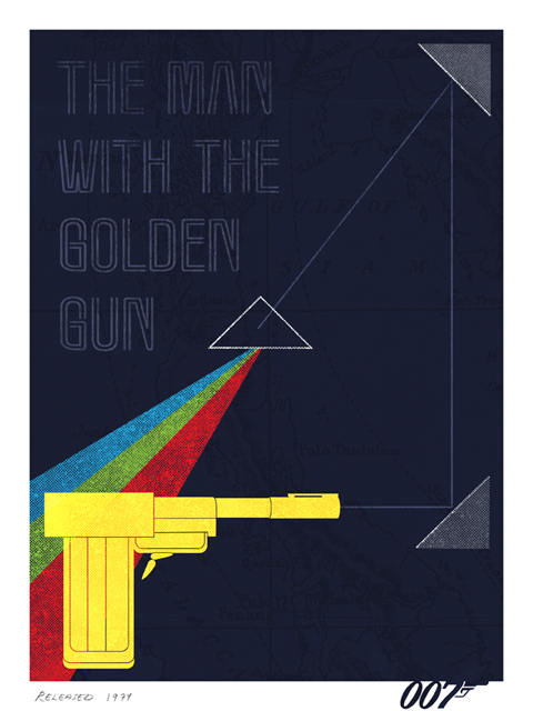The man with the golden gun fan-made poster by Herring&haggis