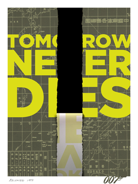 Tomorrow never dies fan-made poster by Herring&haggis