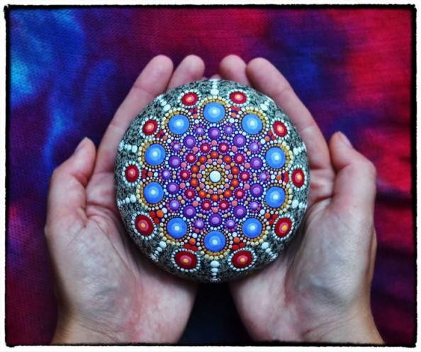 Mandala Stone in hands