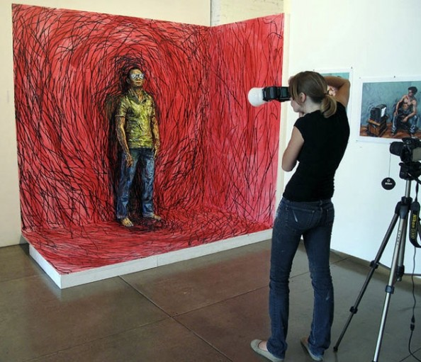 Alexa Meade artwork 2D Making Off