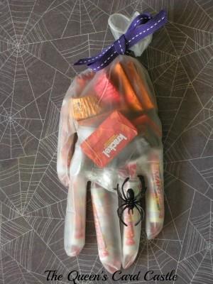 Halloween Hand with treats